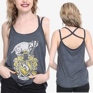 NWT Harry Potter Hufflepuff Hot Topic Badger Tank